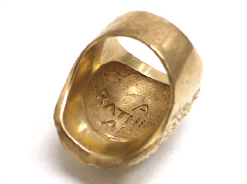 A Bathing Ape Gold Ring