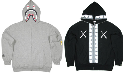 A Bathing Ape shark hoodies