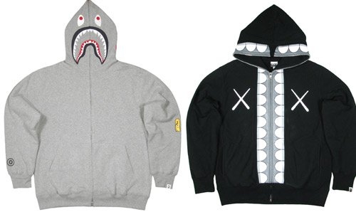 A Bathing Ape shark hoodies