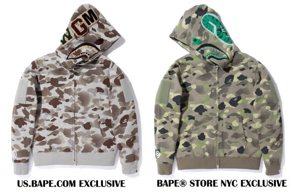 Bape Gradation Shark Hoodie Exclusive